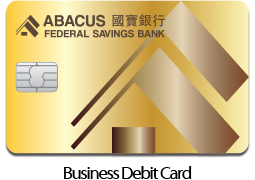 Personal Abacus Bank Credit Card in Wallet