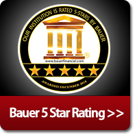 5 Star rated by Bauer Financial