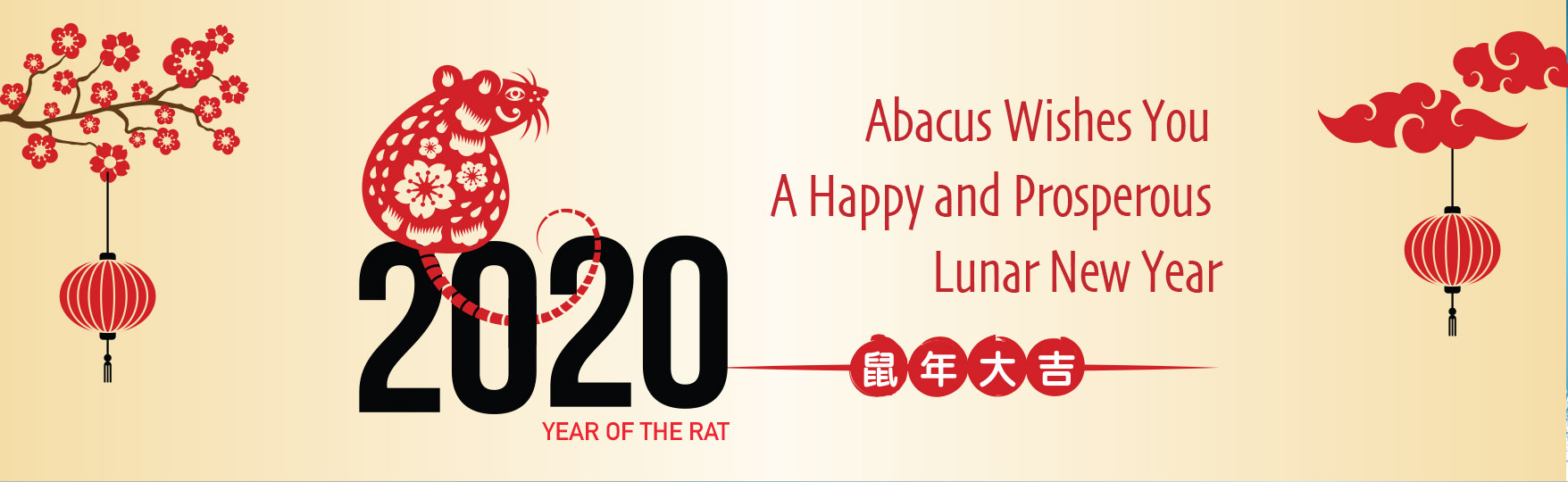 Abacus Wishes you a happy and prosperous lunar new year 2020 the year of rat